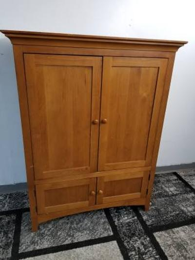 Solid Wood Kincaid TV Stand Armoire Entertainment Center ...