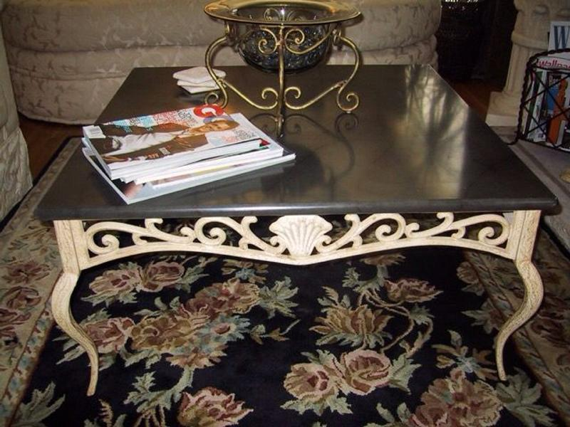 Bombay Company Square Coffee Table Wood Iron Sea Shell Design For Sale In Roswell Ga 5miles Buy And Sell