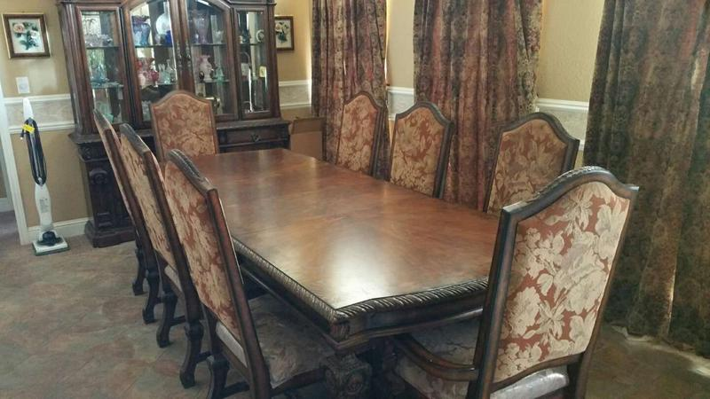 Ashley Furniture 9 2 Leaf Dining Table, Ashley Furniture Dining Room Chairs