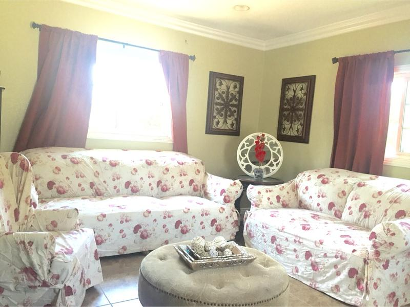 Waverly Garden Room Vintage Rose Sofa, Waverly Garden Room Curtains