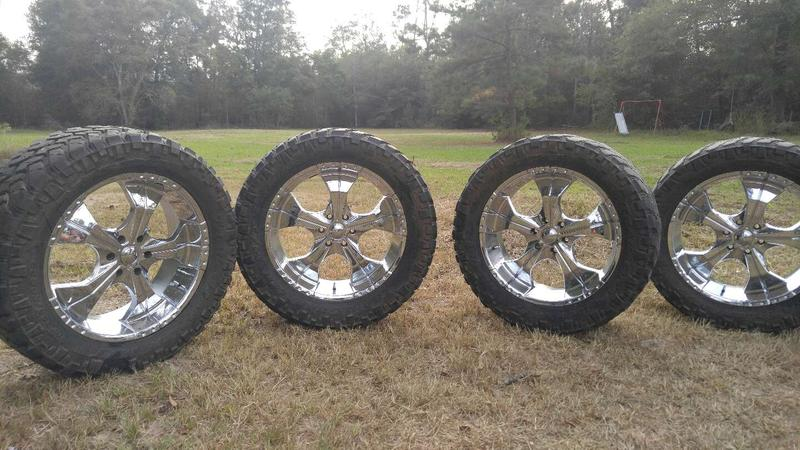 22 Inch Rims With 35 Inch Nitto Trailgraplers For Sale In Conroe Tx 5miles Buy And Sell