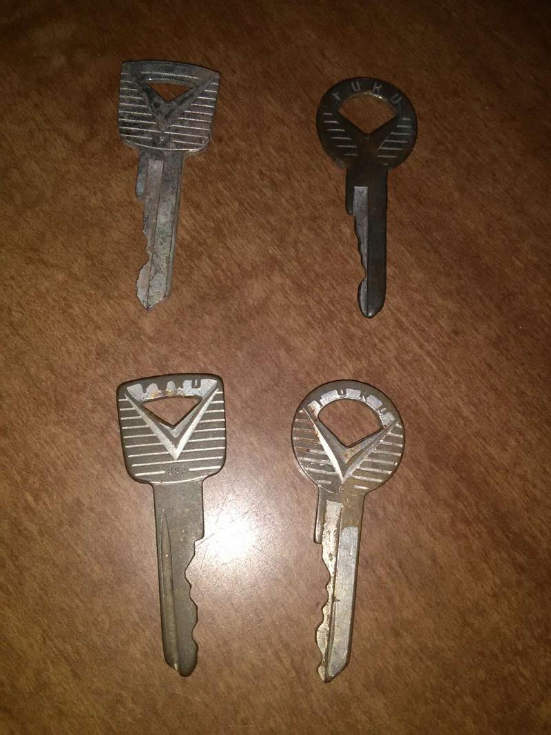 Photo Antique ford keys