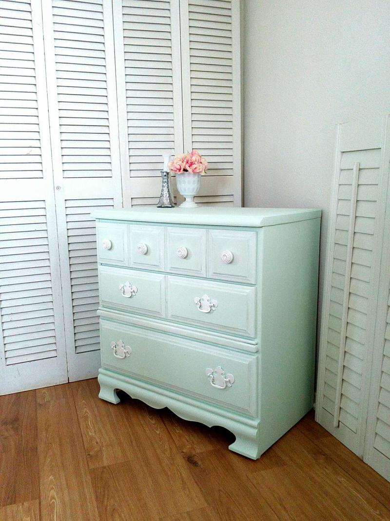 Vintage Chest of Drawers - 3 drawer Chest - Shabby Chic ...