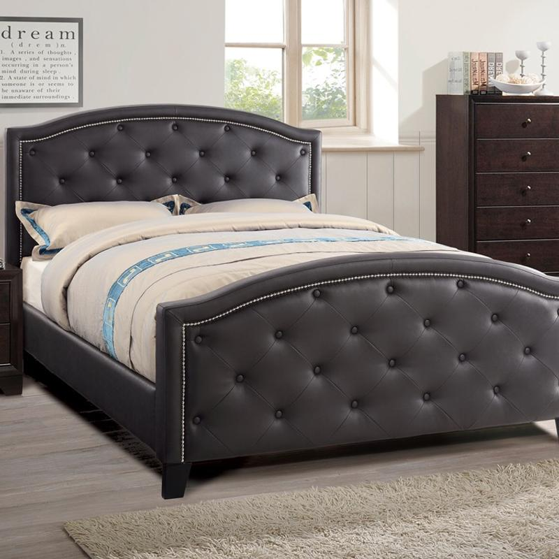Luxurious Queen Bed Frame Espresso, Queen Bed With Headboard And Footboard