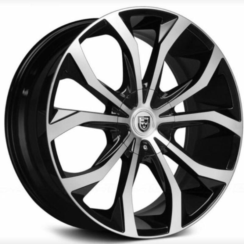 Lexani Lust 24 Inch Wheel Tire Package Machine Black Fits Chevy And Ford 6 L For Sale In La Habra Ca 5miles Buy And Sell