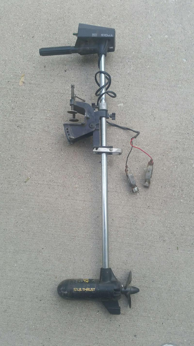 BUY THIS Sigma 12 lb thrust 6 or 12 volt trolling motor with low