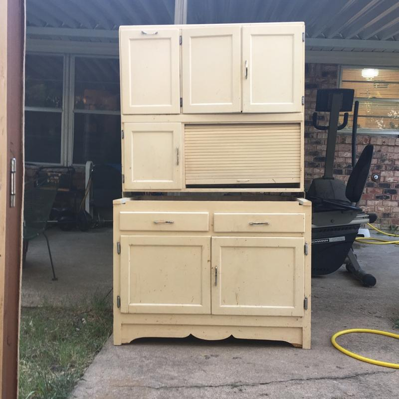 Antique Vintage Hoosier Cabinet Kitchen W Flour Bin Storage For Sale In Fort Worth Tx 5miles Buy And Sell