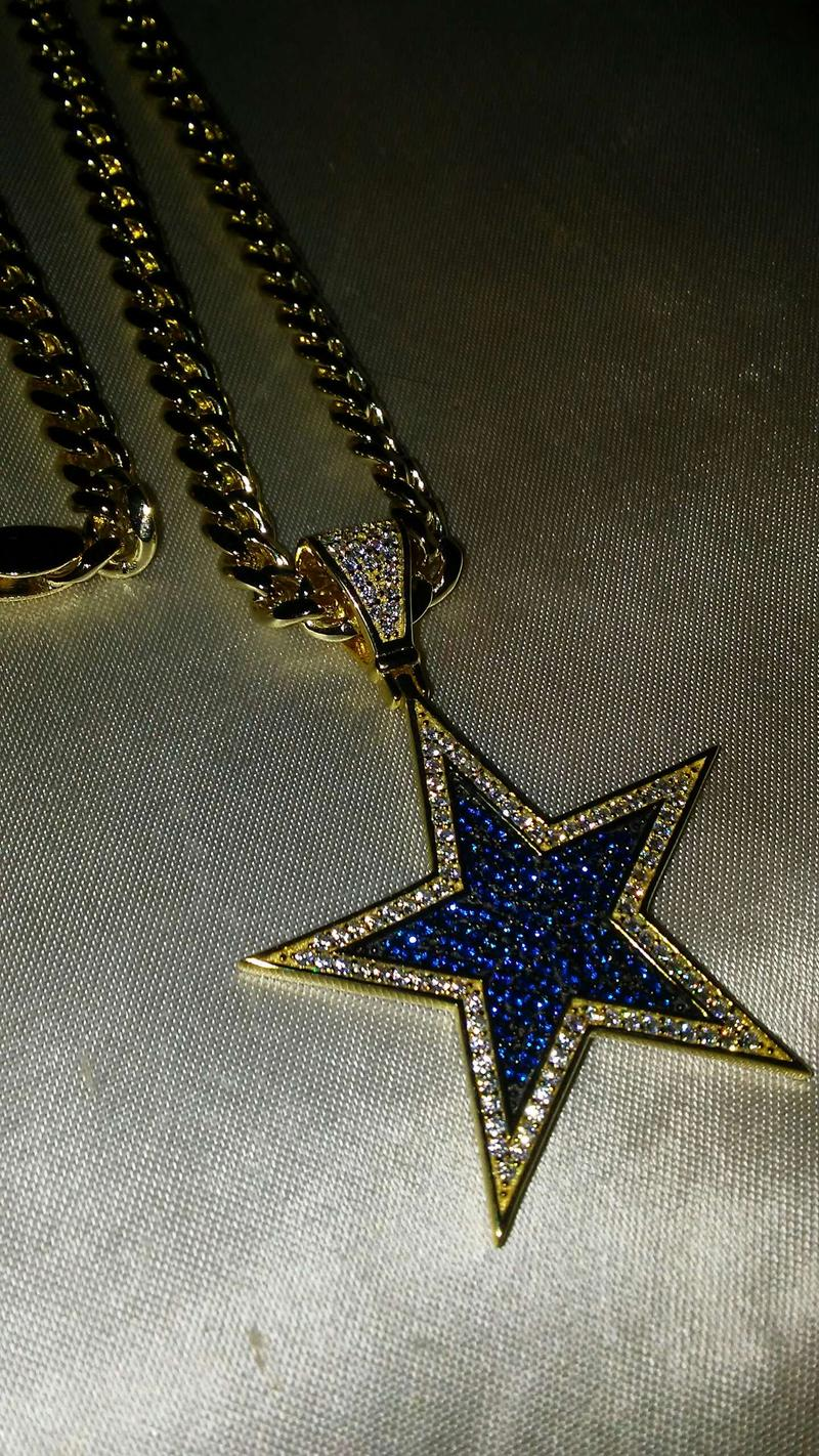 925 Sterling Silver Gold Plated Dallas Cowboys Pendant Oro Lamindo Gold Fille For Sale In Fort Worth Tx 5miles Buy And Sell