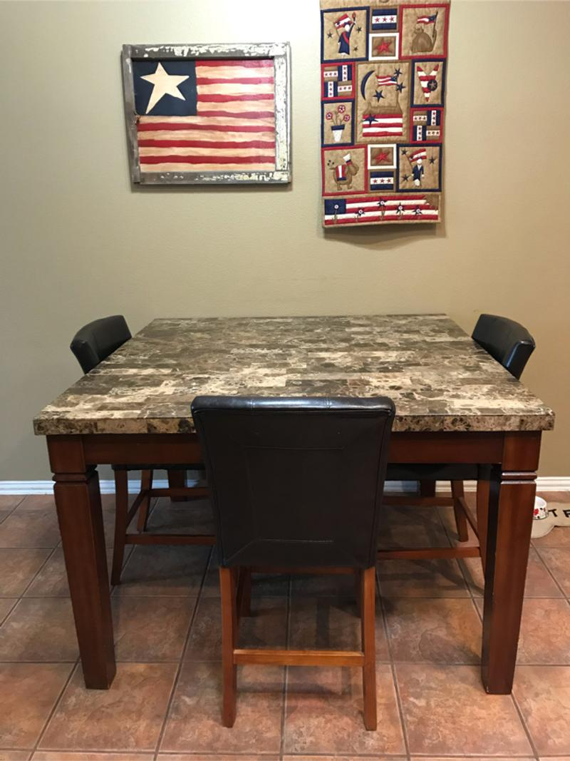 large counter height kitchen table 54x54 36 tall for sale