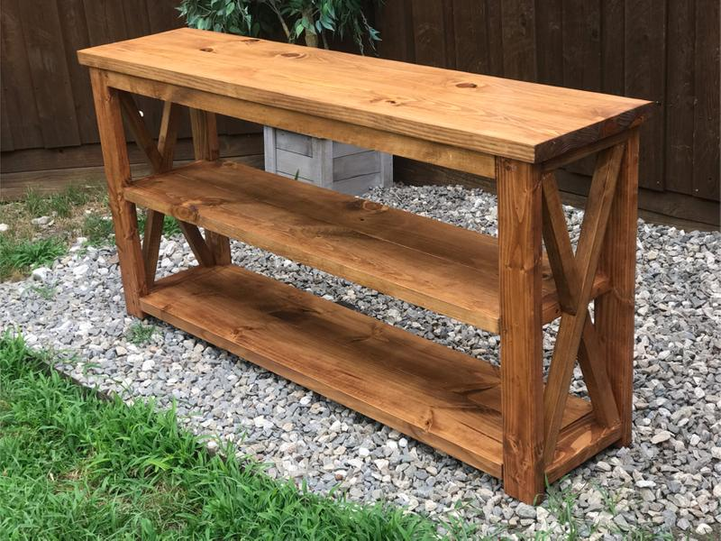 Custom Built Solid Wood Tv Stand A, Sofa Table As Tv Stand