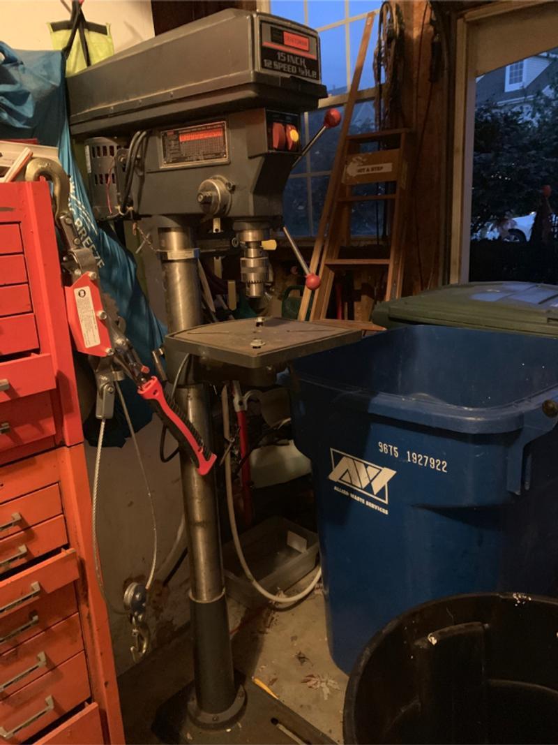 Photo Sears craftsman 15 inch 11 speed 12 horsepower drill press