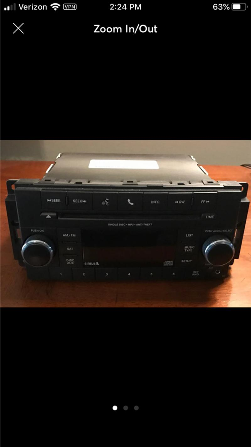 Photo Car Stereo wCD, MP3, Sirius and UCONNECT capability