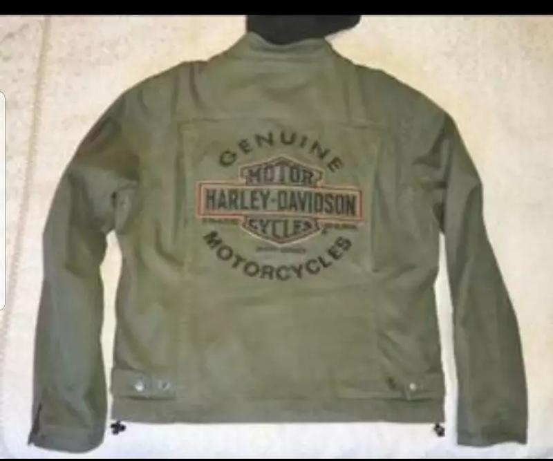 Photo HARLEY DAVIDSON ROAD WARRIOR GREEN 3in1 jacket w zip hooded vest