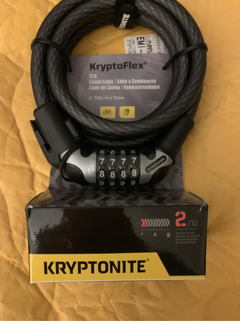 Photo Kryptonite KryptoFlex 1218 Combo Lock