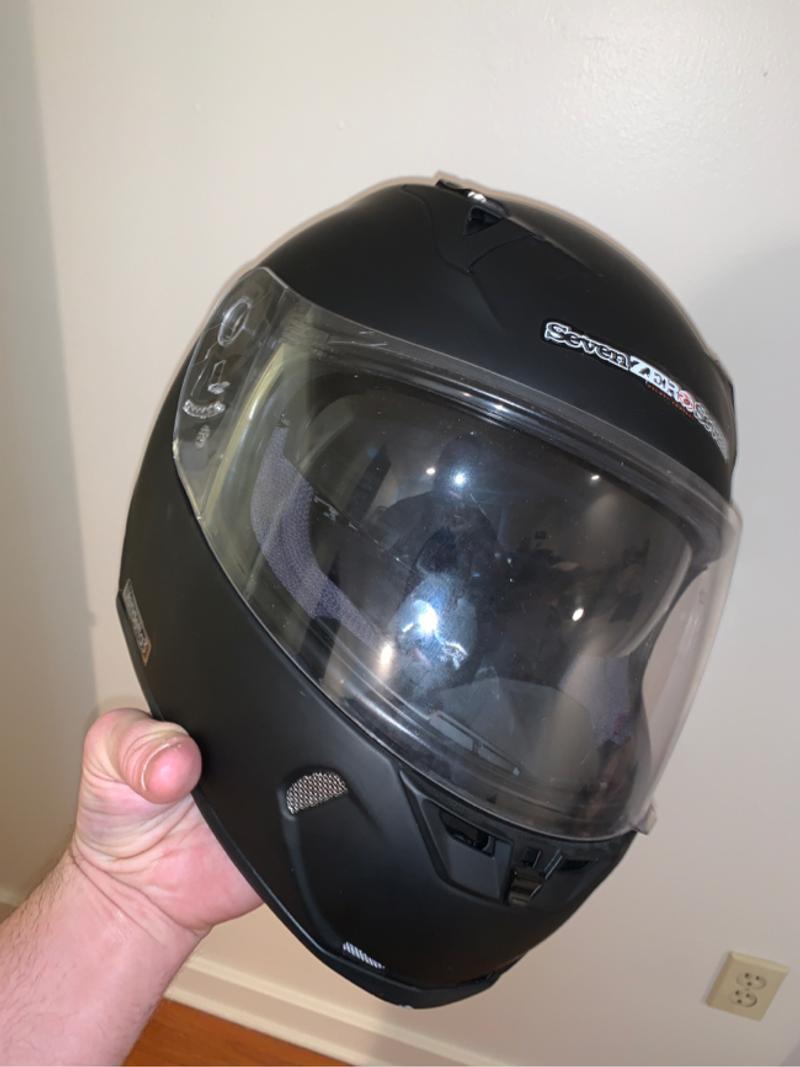 Photo Large Motorcycle Helmet Seven Zero Seven