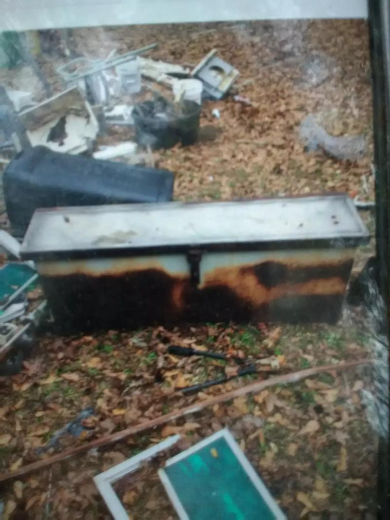 Photo Sold Steel tool box. Well built and strong. Has surface rust but no pitting. The lid is topped with aluminum.