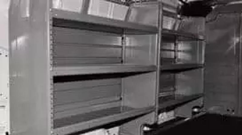 Photo Utility Van Shelves