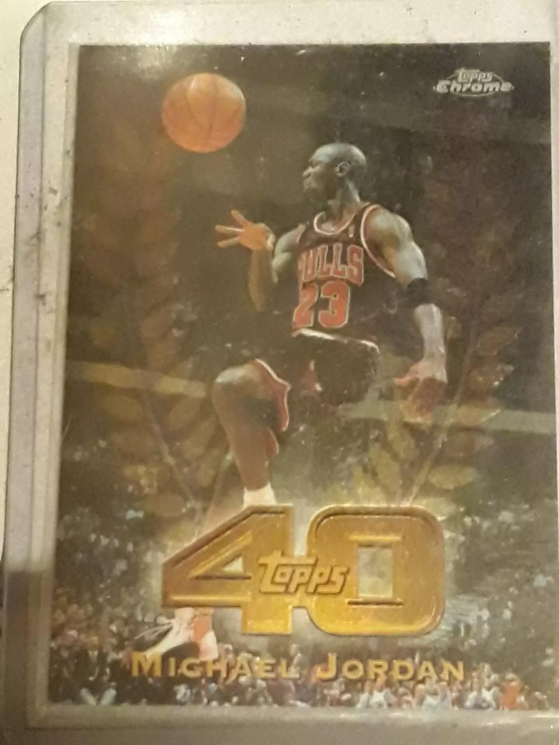 Photo Michael Jordan topps chrome basketball card