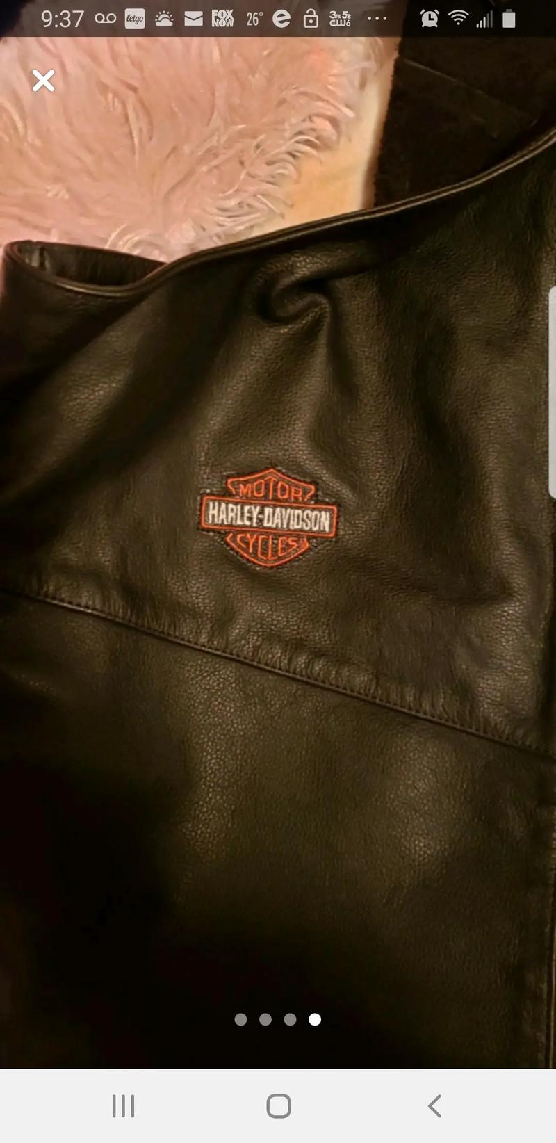Photo XL Leather Harley Davidson Chaps Never worn !!