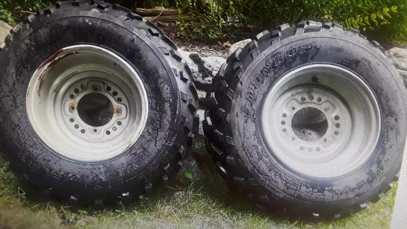 Photo 2 front ATV tires and wheels.