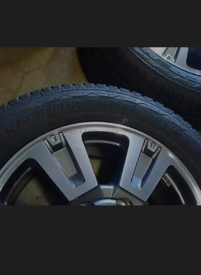 Photo brand new 16 tundra tires and rims $200 a piece they have never been used before dont miss out on a super deal great for your truck