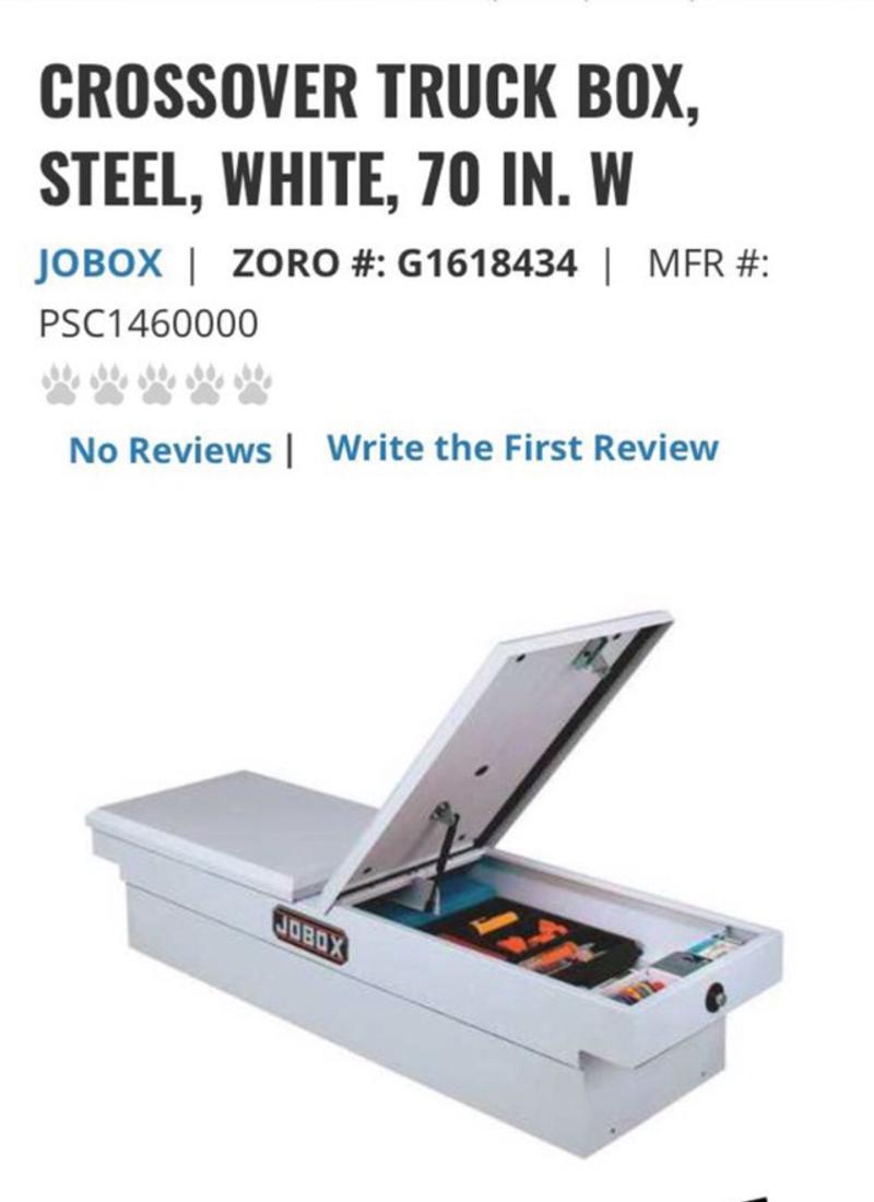 Photo White Steel JOBOX for full size truck