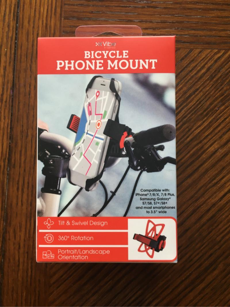 Photo NWT bicycle phone mount red