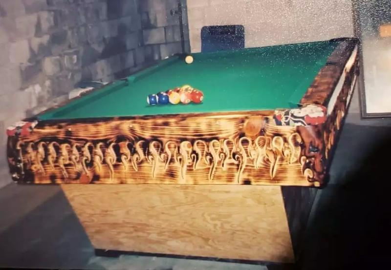 Photo ONE OF A KIND 8 foot custom built pool table