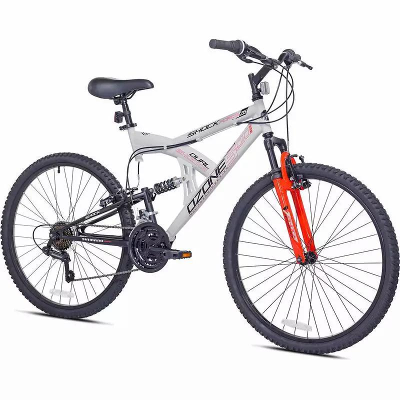 Photo Ozone 500 Mens 26 in 21Speed Shock Force Full Suspension Mountain Bike
