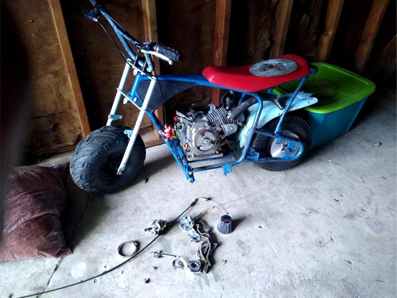 Photo Mini bike its need parts to put on I have the parts just dont know how to put them on