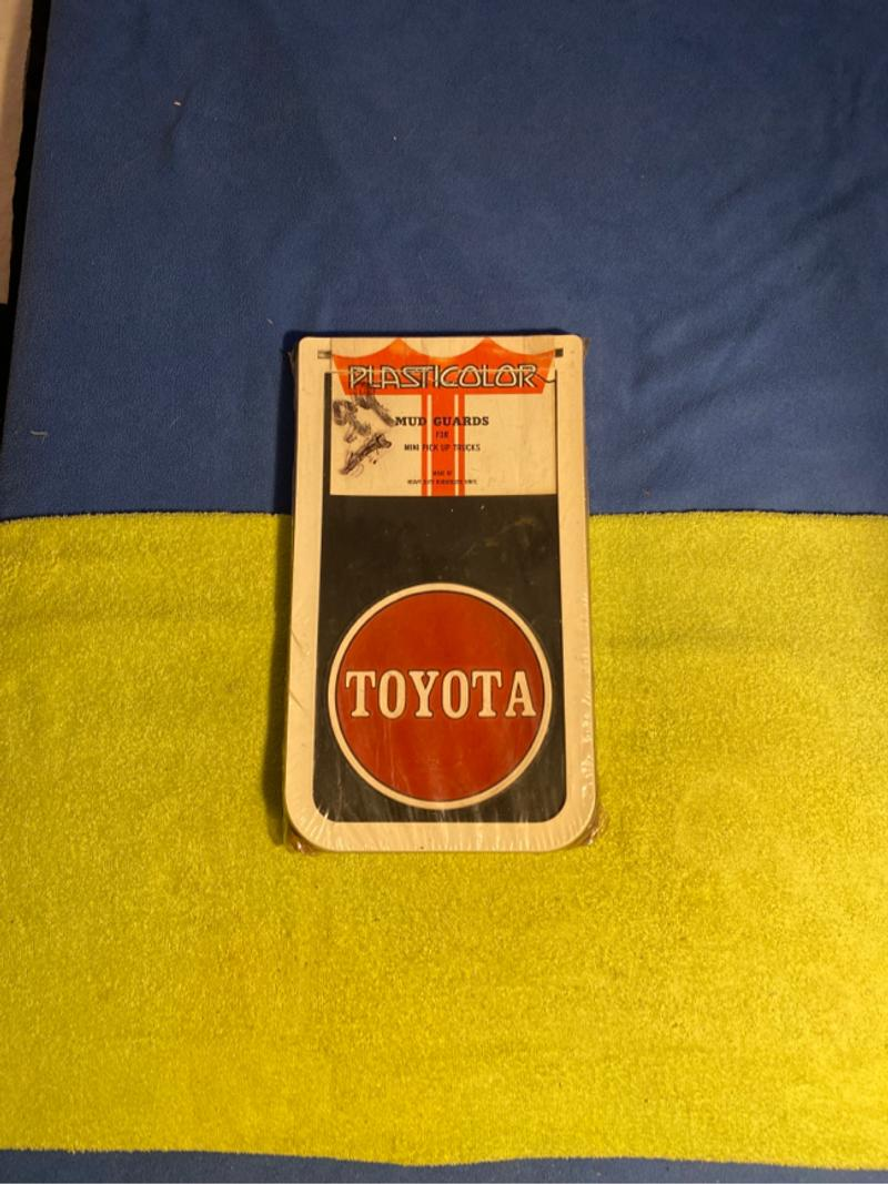 Photo Vintage Toyota mud guards for mini pick up trucks. Made by plasticolor. Asking 400.00