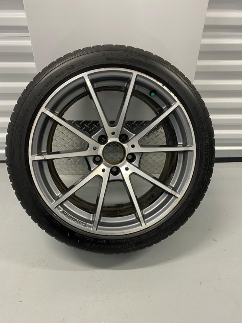 Photo 18 MERCEDES C63 20152017 2018 ALL 4 OEM Factory Original Alloy Wheel Rims 18x9.5 tires .