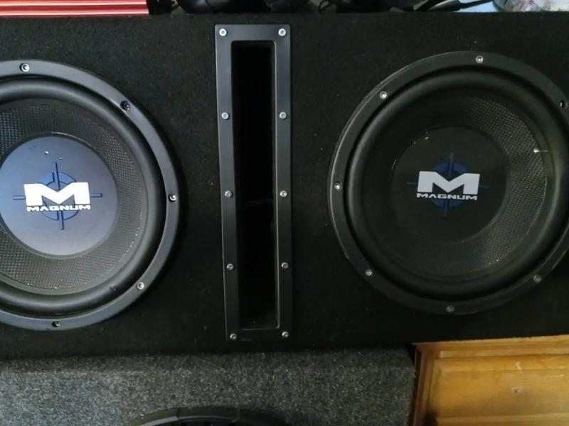 Photo 2 Used 1200 watt 10 inch subs in enclosed box