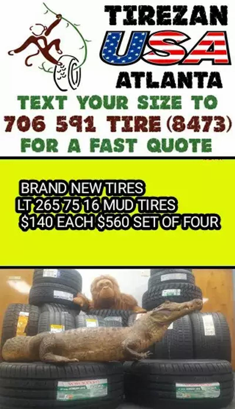 Photo LT 265 75 16 MUD TIRES BRAND NEW TIRES $140 EACH $560 SET OF FOUR