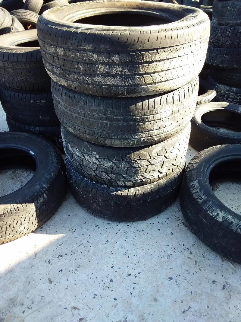Photo Used tires some full sets. $20. Car tires 35. Truck trailer tires. Send me your size. I will let you know availability.
