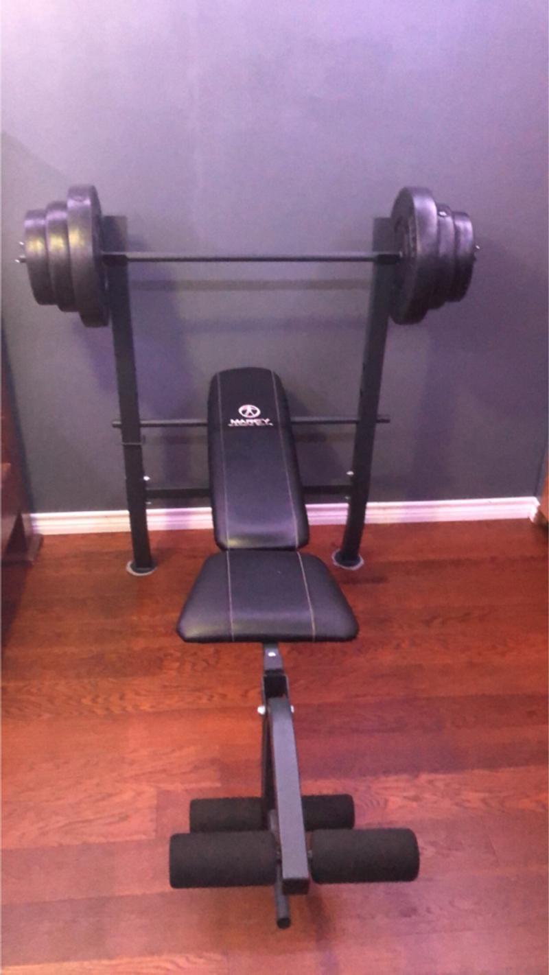 Photo Bench Press Weight Set 100lb