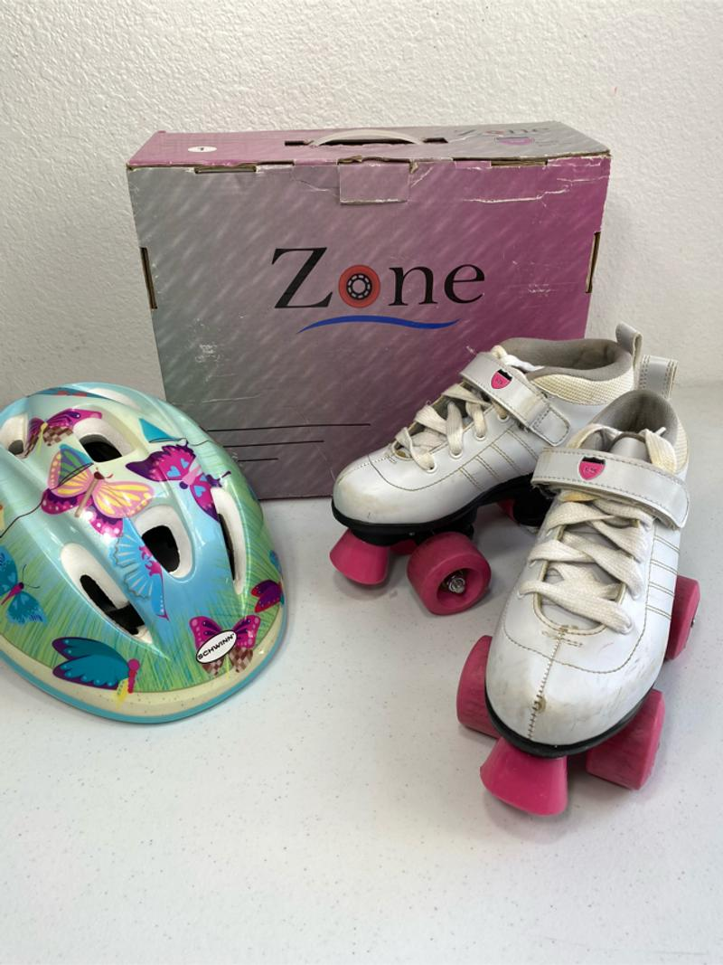 Photo Girls Roller Skates by Zone I25 Series Schwinn Adjustable Helmet