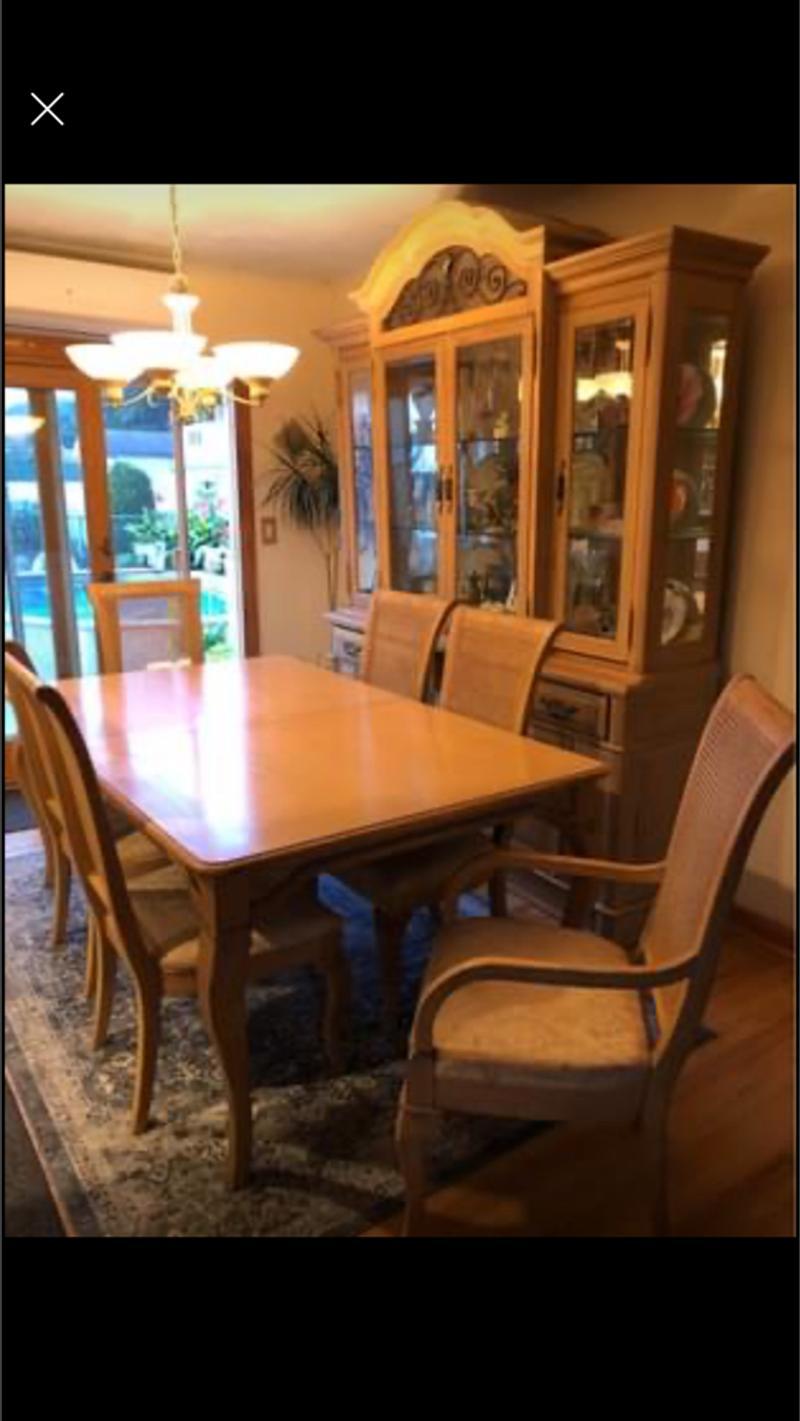 Thomasville Dining Room Set Solid Wood, Thomasville Dining Room Set