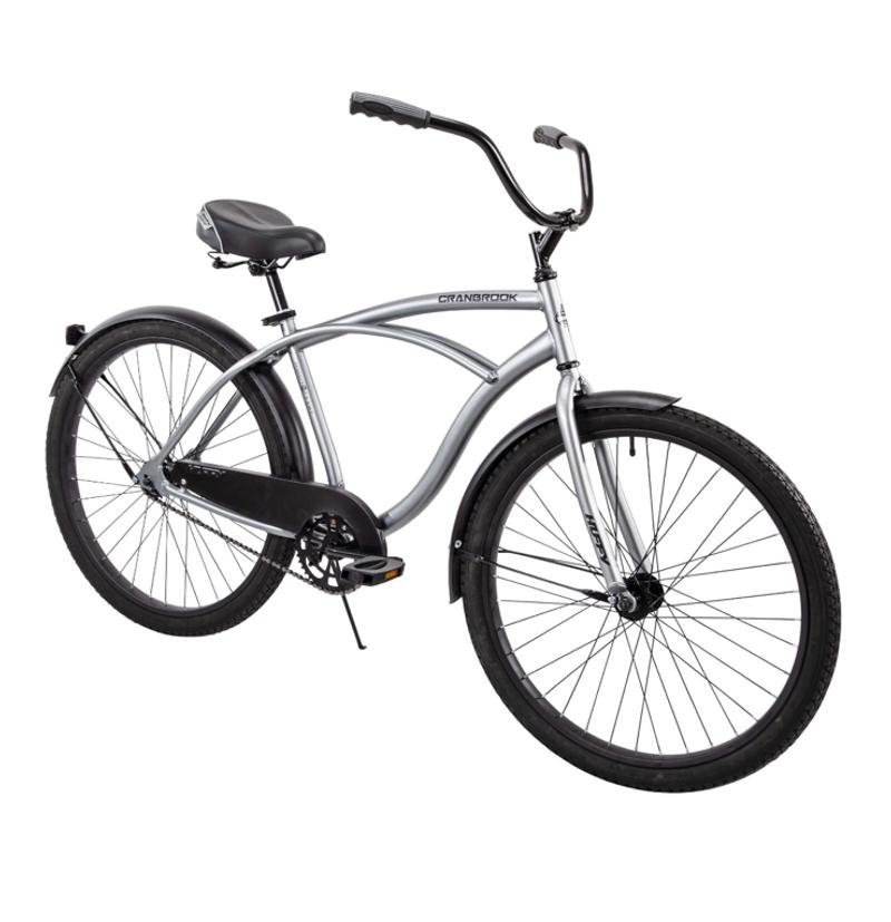 Photo Huffy 26 Cranbrook Mens Cruiser Bike with Perfect Fit Frame, Matte Silver