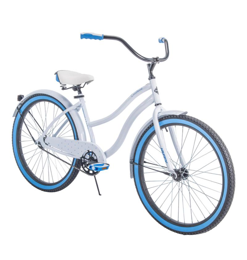 Photo Huffy 26 Cranbrook Womens Cruiser Bike with Perfect Fit Frame, White