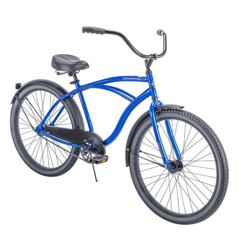 Photo Huffy 26 Cranbrook Mens Cruiser Bike with Perfect Fit Frame, Blue