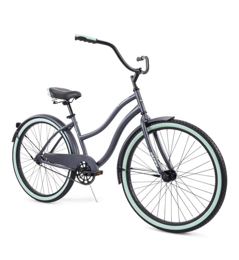 Photo Huffy 26 Cranbrook Womens Comfort Cruiser Bike, Gray