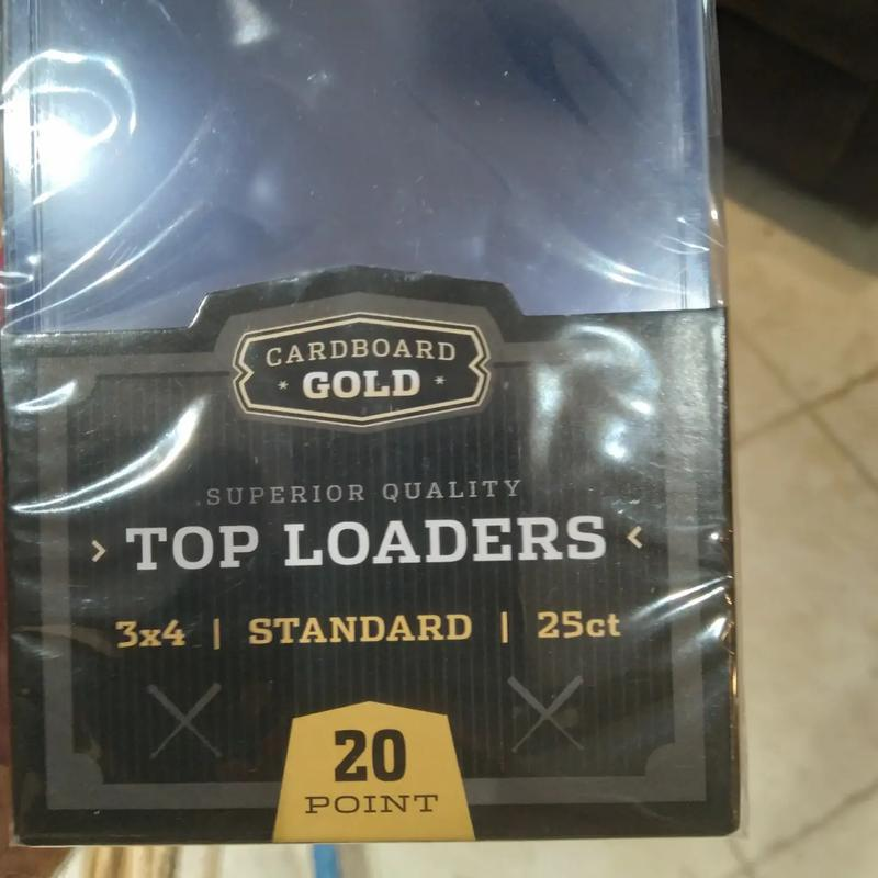 Photo Cardboard Gold 3x4 Standard 20 Point Top Loader 25 Count Brand New